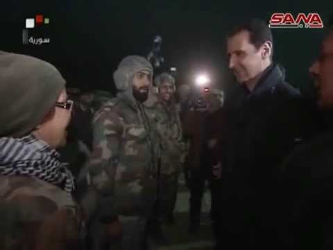 President Bashar al Assad celebrates New Year's Eve with Syrian Army on the battlefront