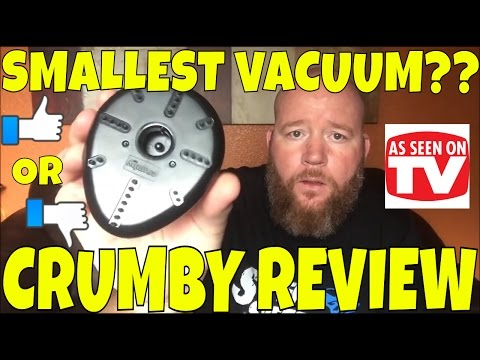 Worlds Smallest Vacuum Cleaner??! CRUMBY *As Seen On TV* Testing Product Review Item Test unboxing