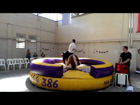 Commonwealth Environment Minister Greg Hunt Rides Mechanical Bull