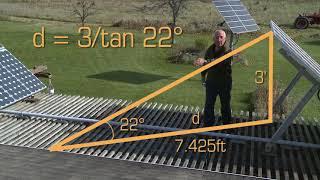 Solar Inter Row Spacing