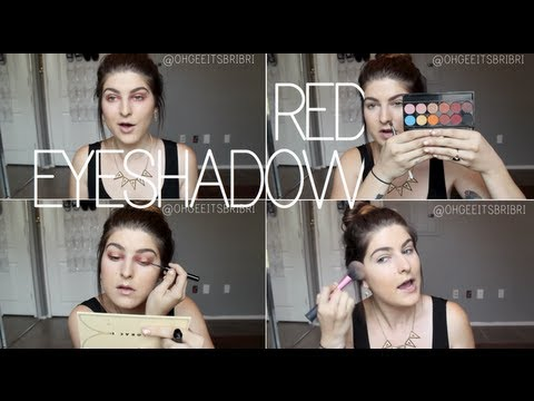 red & gold eyeshadow look. ☠ chit chat GRWM.
