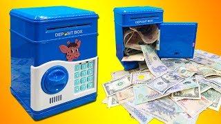 Đồ chơi két sắt mini rút tiền thông minh cho bé, ATM Machine Toys For Kids (Chim Xinh)