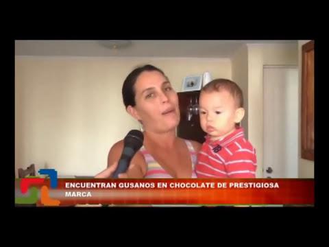GUSANOS EN BARRA DE CHOCOLATE