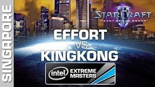 KingkOng vs. EffOrt - Group B - IEM Singapore - StarCraft 2