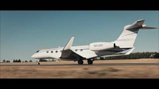 Gulfstream Aerospace G650 Landing at Airport Bern-Belp - FIRST VISIT