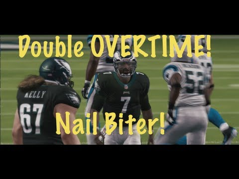 DOUBLE OVERTIME Nail Biter Cam Newton vs Mike Vick - Madden 13 Online Gameplay (Panthers vs Eagles)