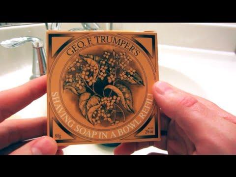 geo f. trumper's shaving soap review youtube