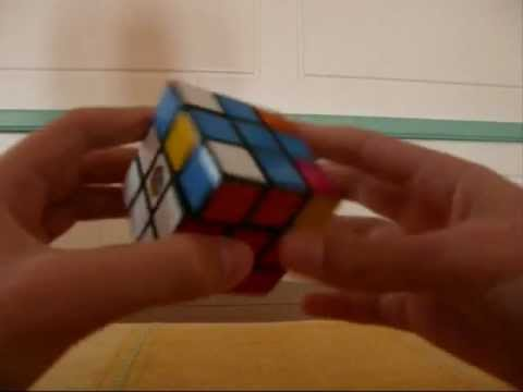 Watch A beginner is solving a cube
