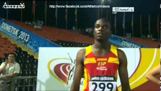 100m boys final world youth championships 2013, Youxue Mo 10.35