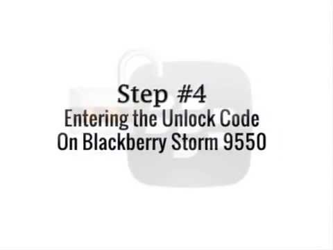 Blackberry Storm 2 9550 Unlocking Tutorial For All Networks Worldwide