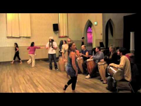 Pt.#2: Afro Cuban Dance Class With Kimberly Miguel Mullen, Drums by Gary & Friends, Nevada City