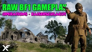 Battlefield One 27 Minutes Raw Gameplay - Operations Kaiserschlacht - Sniper Gameplay