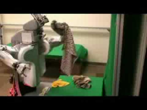 Robot capaz de doblar toallas