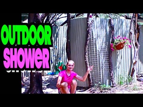 Rustic Homemade Outdoor Shower Construction with Solar Hot Water (P.4)