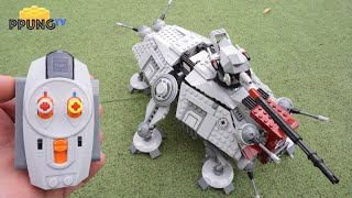 LEGO Star Wars 75019 RC motorized AT-TE & War on Geonosis by 뿡대디