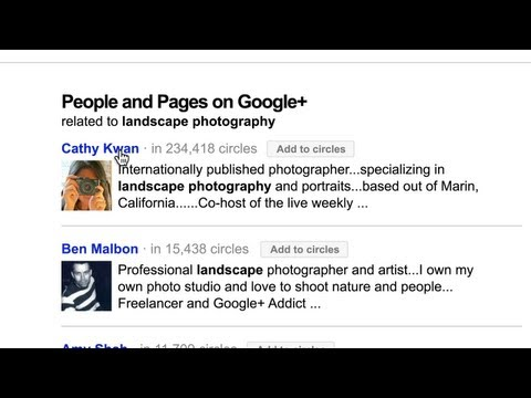Search, plus Your World: Related people and pages