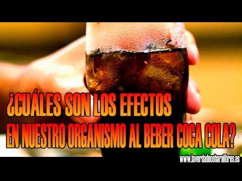 ¿Cuáles son los efectos en nuestro organismo al beber Coca Cola?