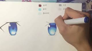 How to Color Anime Eyes with Copic Markers (Beginner Tutorial)