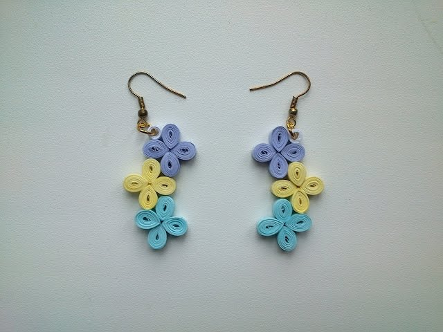 Quilling Earrings Tutorial  How to make simple Quilling Earrings - Paper Quilling Art