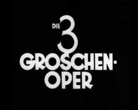 Here's the original song 'Die Moritat von Mackie Messer' from the 'Threepenny opera' sung by Bertolt Brecht. He wasn't a great singer but I like it anyway. I...