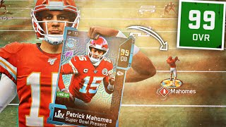 99 MVP PATRICK MAHOMES SHOULD BE BANNED FROM MADDEN 20!! (World's Greatest Card!)