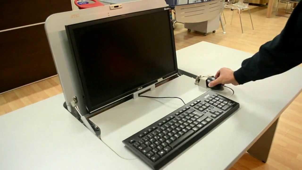 Mobili lavelli mobile porta computer a scomparsa - Mobile porta computer ikea ...