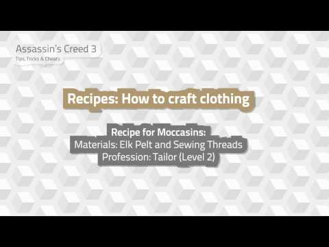 Assassins Creed 3: Recipes - How to craft clothing   Tips. Tricks and Cheats Video 13