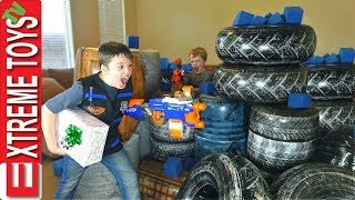 Battle Bunkerz Nerf Blaster Attack! The Missing Christmas Present.