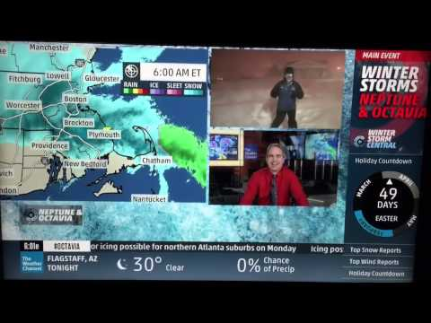 Jim Cantore freaking out - winter storm Neptune thunder snow 2/15/15