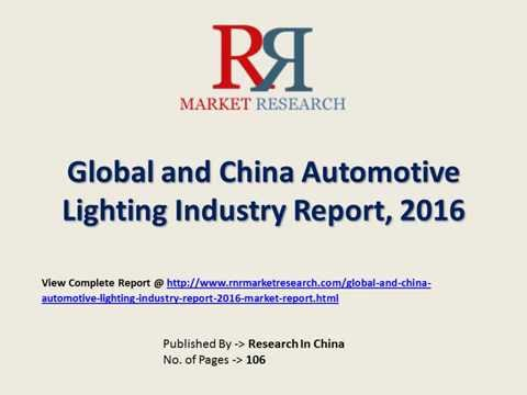global and china automotive lighting industry