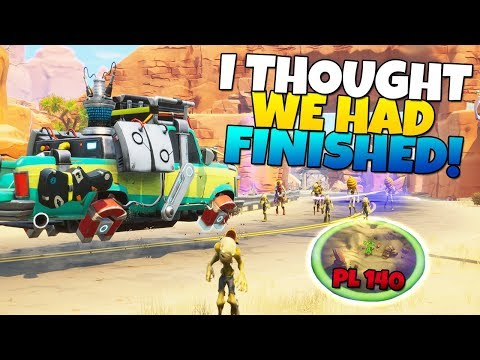 I THOUGHT WE WERE FINISHED!? Hit The Road ESCORT MISSION | Fortnite Save The World