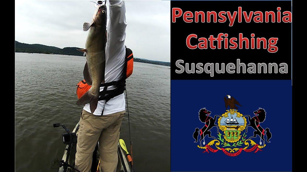 Pennsylvania Kayak Catfishing Bass Tournament on the Susquehanna River