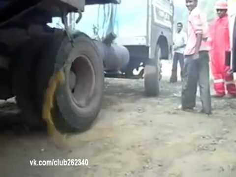Заводим грузовик необычным способом! :-)