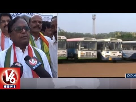 Bharat Bandh | Congress Leaders Protest Against Fuel Prices Hike At Warangal | V6 News