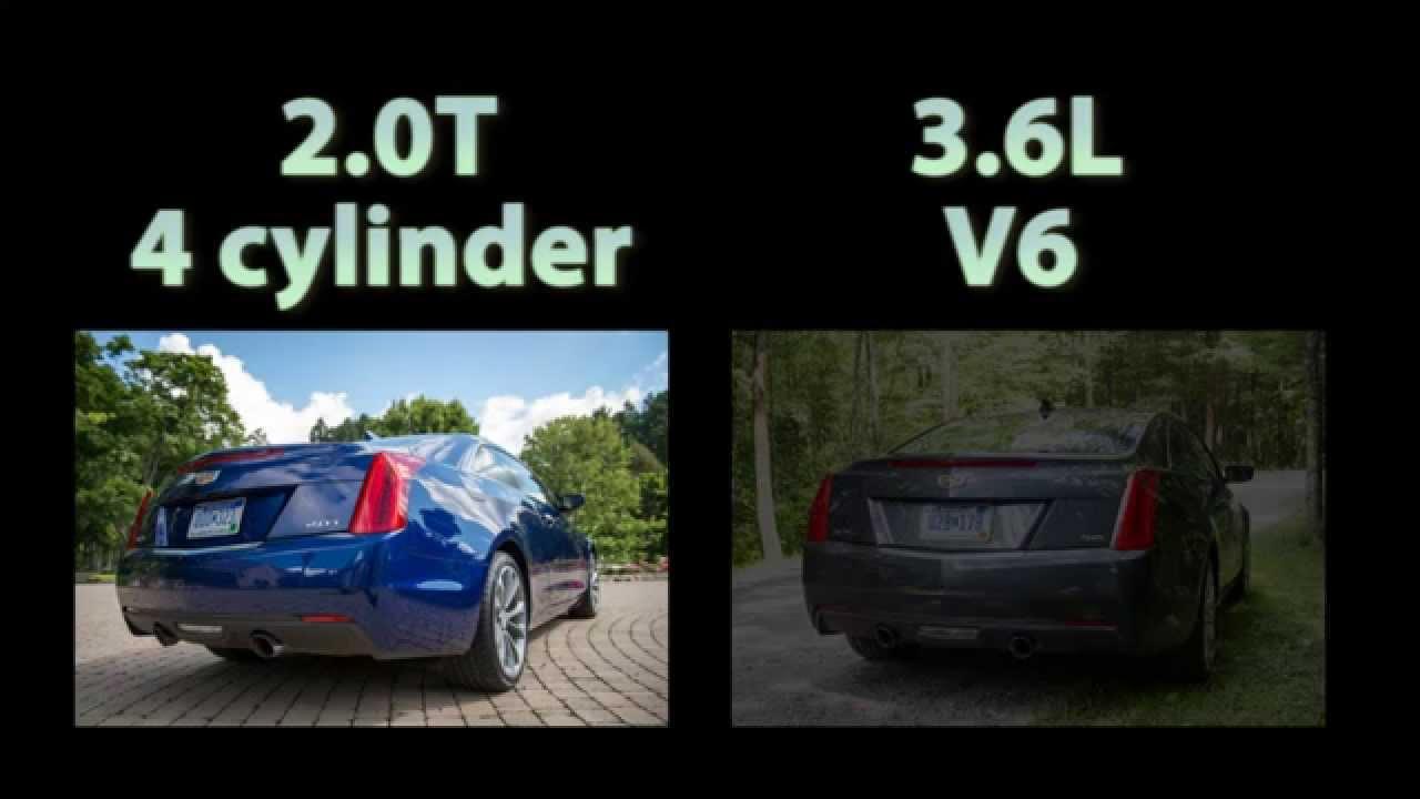 Cadillac Ats Performance Parts >> 2015 Cadillac ATS Coupe Exhaust 2.0T vs 3.6L V6 - YouTube