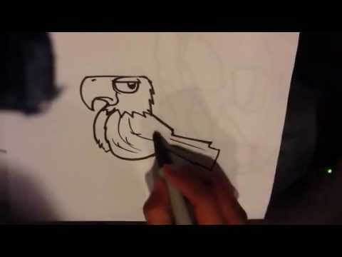 How to draw an eagle easy things to draw youtube for How to draw easy but cool things