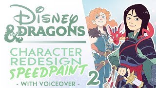 Turning MORE Disney Heroes into DnD Characters! | Disney and Dragons SPEEDPAINT