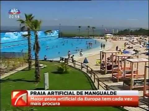 Praia artificial de Mangualde est� a ser um sucesso