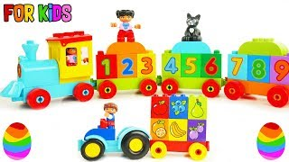 Toddler Learning Videos for Kids with Trains, Trucks to Learn Colors Vegetables, and Fruit Toys Fun!