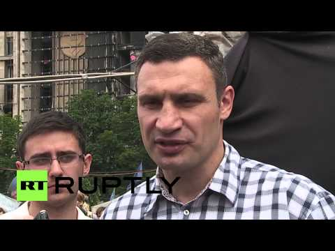 Ukraine: Klitschko meets Maidan protesters opposed to his plans