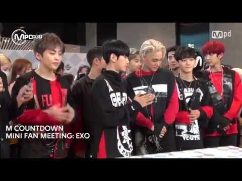 엑소 컴백 미니팬미팅 EXO MINI FAN MEETING Mnet MCOUNTDOWN 160609