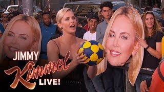 Three-Point Challenge with Charlize Theron