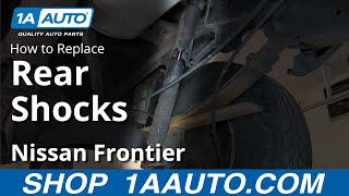 How To Install Replace Rear Shocks 2000-04 Nissan Frontier and XTerra