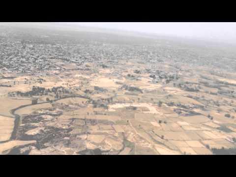 Landing Bamrauli Airport - Allahabad, India