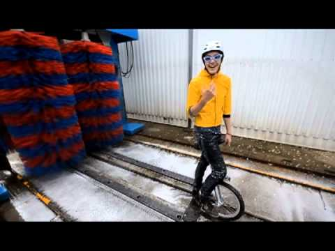 Unicycle carwash Jack Harries