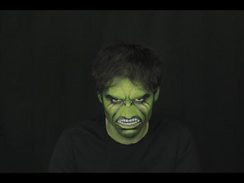 Pop-Art Hulk  makeup Tutorials for Halloween / Как сделать макияж Халка в стиле Поп-Арт на Хеллоуин