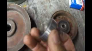 how to change your mower deck idler pulley bearing without buying an idler