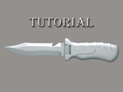 Как сделать нож на 3ds max 380