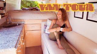 VAN TOUR | Beautiful DIY Camper Van Conversion // minimal millennials