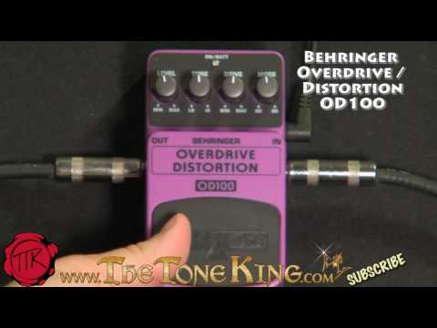 Bugera Behringer OD100 Overdrive / Distortion Pedal Boss OS2 OS-2 OD-100